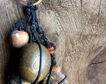 Stone Charm Keychain