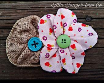 Plaid & Fabric flower headbands