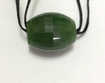 High Quality Cassiar Nephrite Canadian Jade Bead