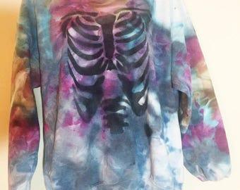 Tie Dye rib cage sweatshirt