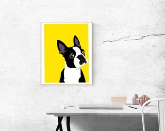 8 x 10 Archival Matte Boston Terrier Print