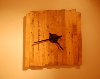Wall clock wooden barn (custom delivery included)