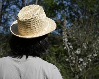 Straw hat - portuguese straw, handmade, Summer Sun Hat, woman/man.