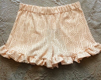 Glitter Rose Gold Ruffle Shorts