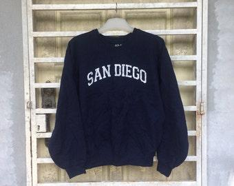 On Sale  90's Vintage SAN DIEGO Sweatshirt Size Medium