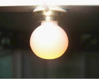1/12th new dolls house working ceiling light