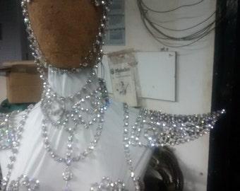 Epaulette in Swarovski Crystal