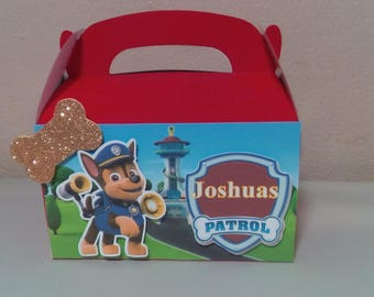 Paw Patrol candy boxes birthday
