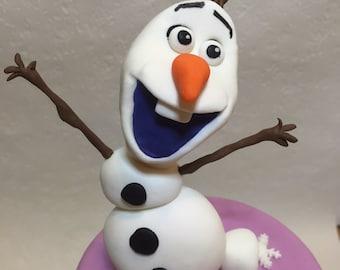 OLAF frozen Cake Topper fondant