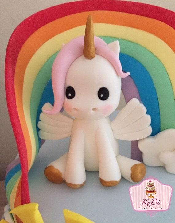 Unicorn 3D Cake Topper fondant