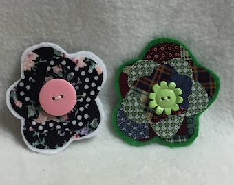 Flower Hair Clips - Set of 2 (#001.14)