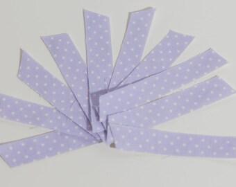 Handmade #Fabric Washi Tape #Purple polka dot washi tape - Set of 10 pieces