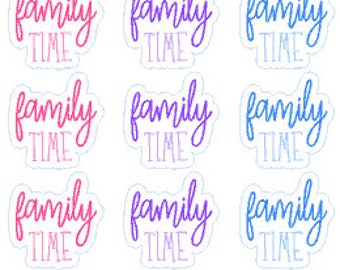 FAMILY TIME// Planner // Stickers // Happy Planner