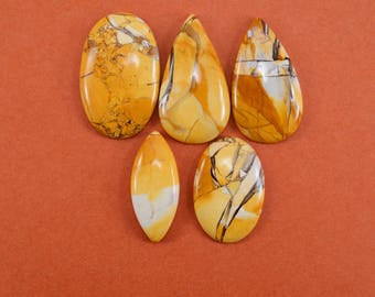 Natural Mookite Mix shape loose semi precious gemstone cabochon size 34.5 To 41.5 mm approx wholesale gemstone GE-305