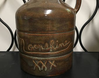 Moonshine Jug/Container/Whiskey Jug/Hand Made/Pottery/Signed and Stamped