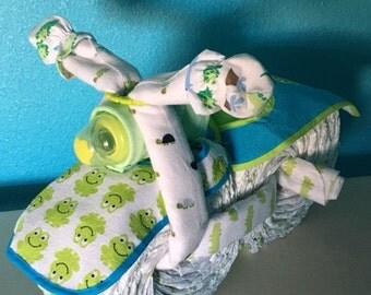 Diaper Motorcycle Green