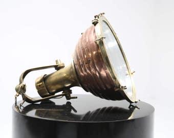 Vintage Marine Nautical Ship Cargo Fox Light Wiska Brass Copper