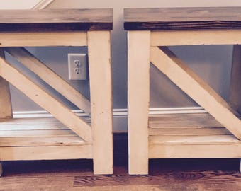 Rustic Side Table, Rustic End Tables, Rustic Home Decor,