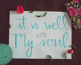 9x12 Watercolor Calligraphy