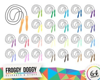 Jumping Rope Clipart, Diet Clipart, Fitness Clipart, Workout Clipart, Exercise Clipart, Planner Clipart, Scrapbooking Cliparts