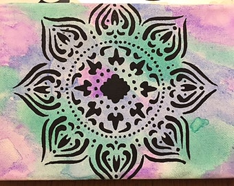Watercolor Mandala Canvas