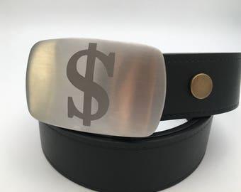 Dollar belt buckle Stainless steel belt buckle replaceable buckle gift for him money belt buckle silver buckle metal belt buckle