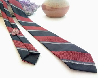 The Red & the Black: 100% Polyester skinny tie - FREE US SHIPPING