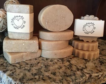 Goat's Milk with Oatmeal Handmade Soap - Lavender or Citrus Scent