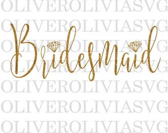 Bridesmaid SVG, Bridal party SVG, Bridesmaid cut file, Bridal party Cutting File, SVG Cut File, Digital Cut File, Wedding svg, bride svg