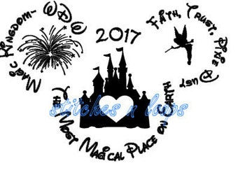 Disney Mickey Head Family 2017 Vacation Shirt SVG Magic Kingdom Custom Tink Castle File