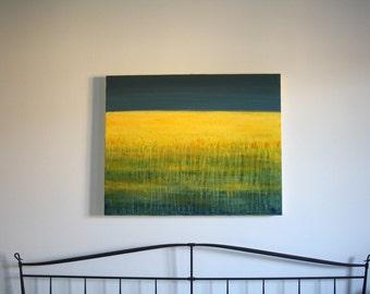 Abstract acrylic painting 80 x 100 cm modern modern acrylic painting painting painting large abstract landscape yellow field Salon furniture