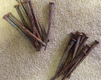 Antique Hand Made Nails (qty.18) 3.75""
