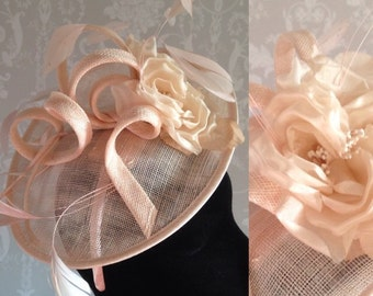 Natural/String  Sinamay Fascinator