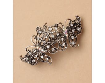 9cm vintage butterfly clip, barrette, hair clip, bridal hair piece, wedding hair clips, french clip, hair decoration, ladies hair clips,