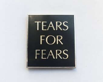 Tears for Fears Enamel Pin | 80s legends, hat pin, lapel pin, collectible