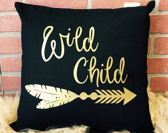 Wild child pillow cover *free shipping