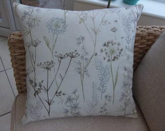 Cushion Cover Fryetts botanical furnishing fabric 100% cotton 20 inch Square Flowers/leaves