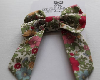 Traditional Bow with tails | Floral Print