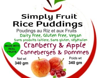 Cranberry & Apple Dairy Free Rice Pudding