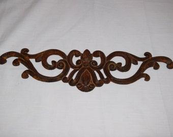 Rustic Shabby Chic ornate filigree rusty iron Wall design