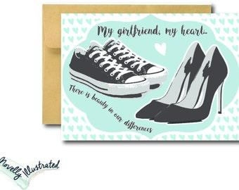 My Girlfriend, My Heart LGBT Love Card