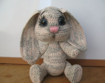 Crochet dreams hare Small hare Teddy hare Knitted toy hare Сuddly toy Passover rabbit Easter hare