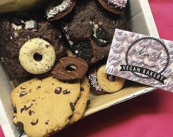 Vegan Mixed Cake Box - Brownies, Mini Baked Doughnuts, Chocolate Chip Cookies...