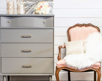 SOLD EXAMPLE...Painted furniture, retro furniture, modern vintage furniture, painted chest of drawers, chic furniture, painted chest