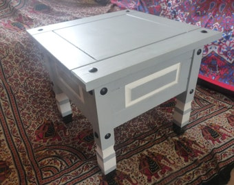 Upcycled side table. READ DESCRIPTION.
