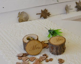 Mr Mrs Wedding Ring Box, Wedding Ring Storage, wooden Ring Box, Wedding Ring Box, Wood Ring Box, Moss, wooden ring bearer