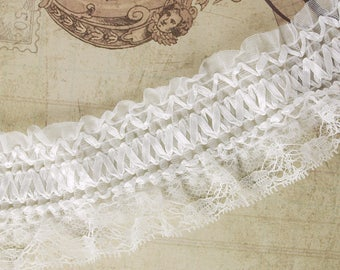 """65 mm white frill """"laced"""""""