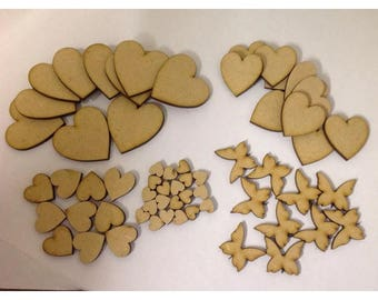 60 x Wooden Craft Shapes