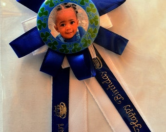 Custom Made Birthday Corsage with your photo and name printed