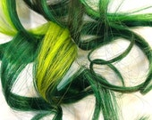 "Set of FOUR 16"" Clip-In Human Hair Streaks, Shamrock"